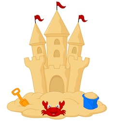 Sand castle cartoon vector image