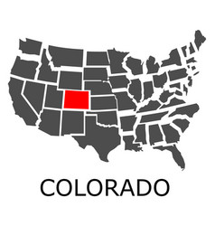 state of colorado on map of usa vector image vector image