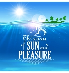 Tropical beach vacation symbol for travel design vector image