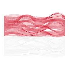 Wave line flag of Indonesia vector image