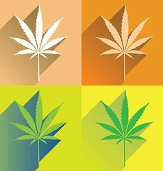 CannabisFlat vector image vector image