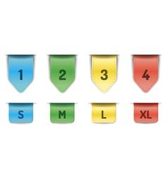 Ribbon bookmarks vector image