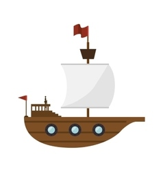 sailboat toy kid isolated icon vector image