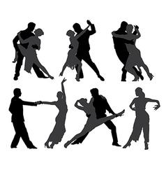 Tango Dancers Silhouette vector image vector image