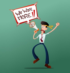 Young worker with megaphone vector