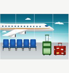 airport terminal arrival flight vector image vector image