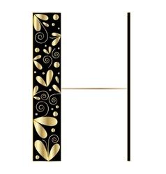 Decorative letter shape Font type H vector image