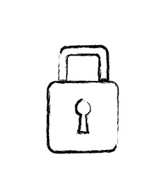 padlock security information technology data vector image vector image