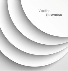 Paper circles with shadows background vector image vector image