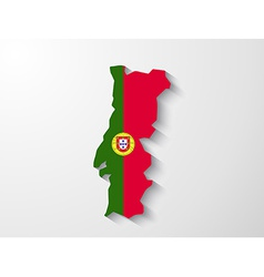 Portugal map with shadow effect presentation vector image
