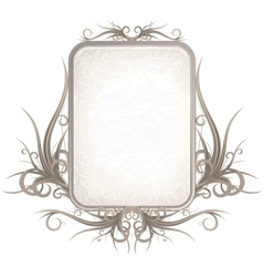 Vintage Gothic Frame with Free Space for Your Text vector image vector image