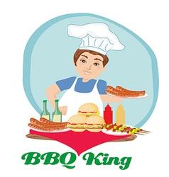 BBQ king vector image