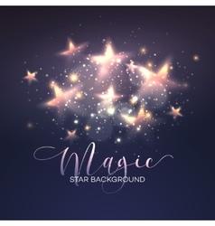 Defocused magic star background vector image vector image