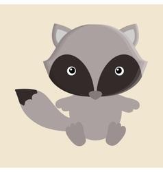 raccoon animal cute little design vector image vector image