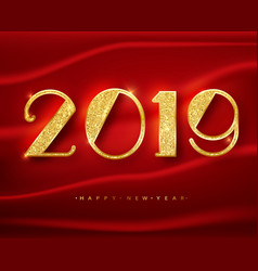 2018 happy new year greeting card with shining vector image