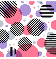abstract modern fashion pink and purple circles vector image