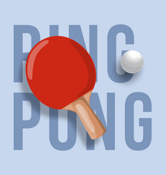 abstract ping pong racket isolated on light vector image