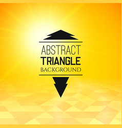 Abstract yellow sunset with triangle field vector