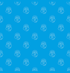 All day support pattern seamless blue vector