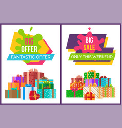 Big fantastic sale offer only this weekend posters vector