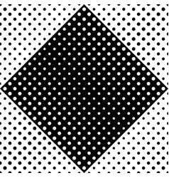 black and white seamless abstract circle pattern vector image