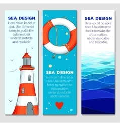 Cards templates with nautical elements vector