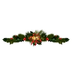 Christmas decorations with fir tree vector