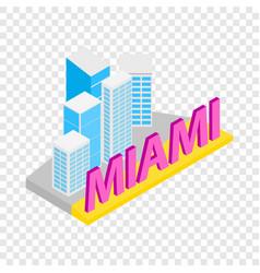 City miami isometric icon vector