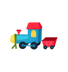 colorful plastic locomotive on wheels with little vector image
