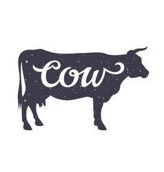 Cow silhouette 006 vector