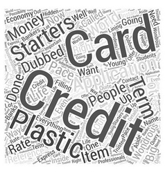 Creditcardapplication Word Cloud Concept vector