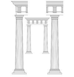 Doodle of classic columns vector