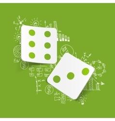 Drawing business formulas dice vector