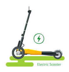 electric scooter on road electric scooter vector image