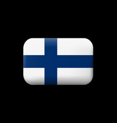 Flag of finland matted icon and button vector