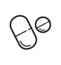 flat pills icon in line style vector image