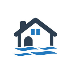Flood icon vector