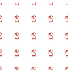 french fries icon pattern seamless white vector image