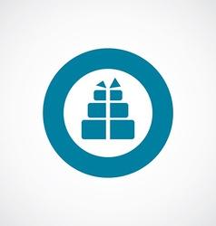 Gift icon bold blue circle border vector