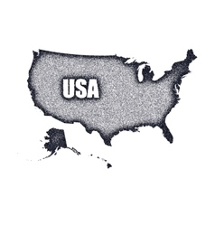 Grunge USA map vector