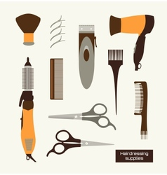 Hairdressing supplies vector