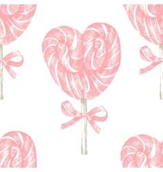Hand drawn lollipop seamless vector