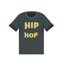 hip hop tshirt icon flat style vector image