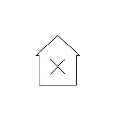 Home delete icon vector