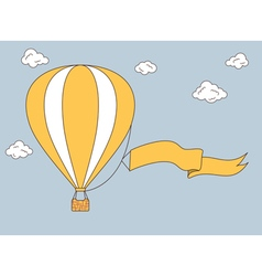 Hot air balloon vector image