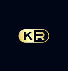Initial letter kr logo template design vector
