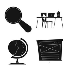 isolated object of education and learning symbol vector image