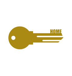 Key from door home clef isolated on white vector