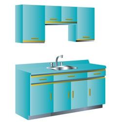 Kitchen Unit vector image