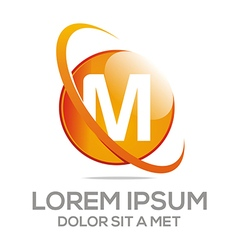letter m alphabet logo vector image